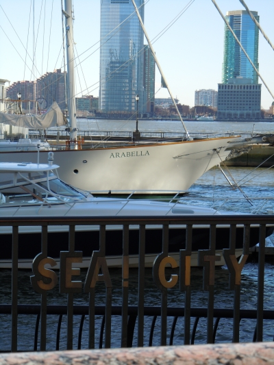 City of Sea with S/Y Arabela (Image source: Karatzas Marine Advisors & Co.)